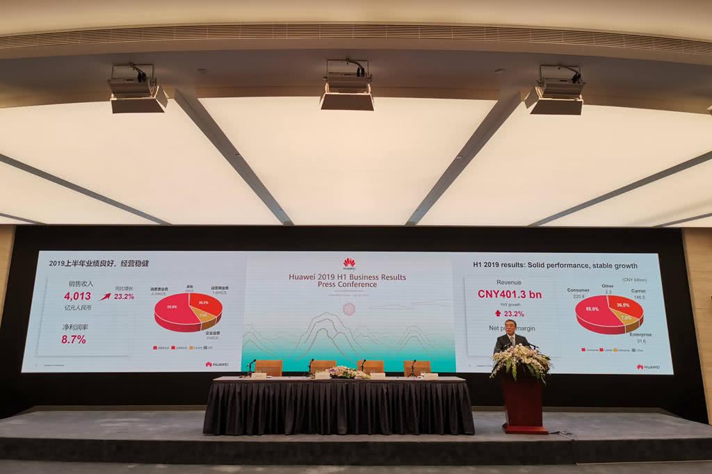 华为漂亮成绩单:2019上半年收入4013亿元 同比增23%