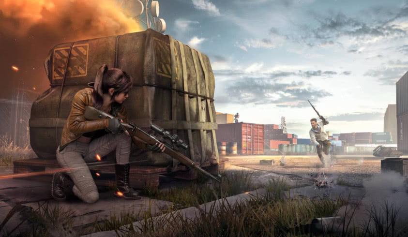和平精英:玩家看到2人机互殴,上去一人给一枪,坐收渔翁之利!