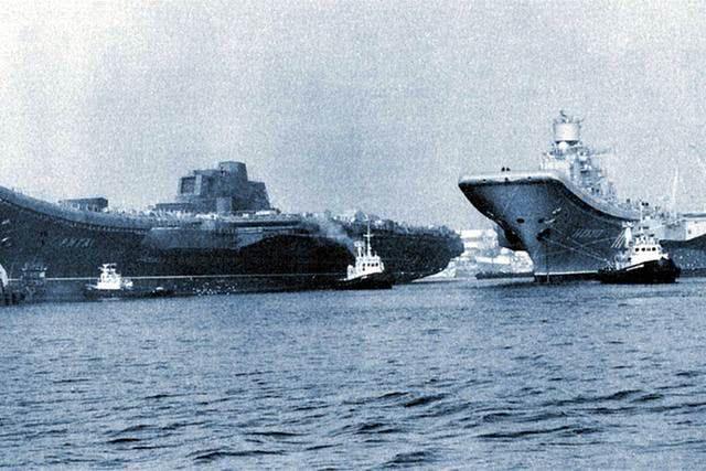 俄海军最后的门面,辽宁号姊妹舰多灾多难,二者命运截然不同