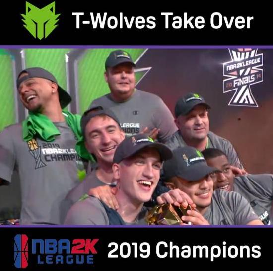 恭喜!森林狼赢总冠军,不过是NBA2K游戏里,奖金36万美金