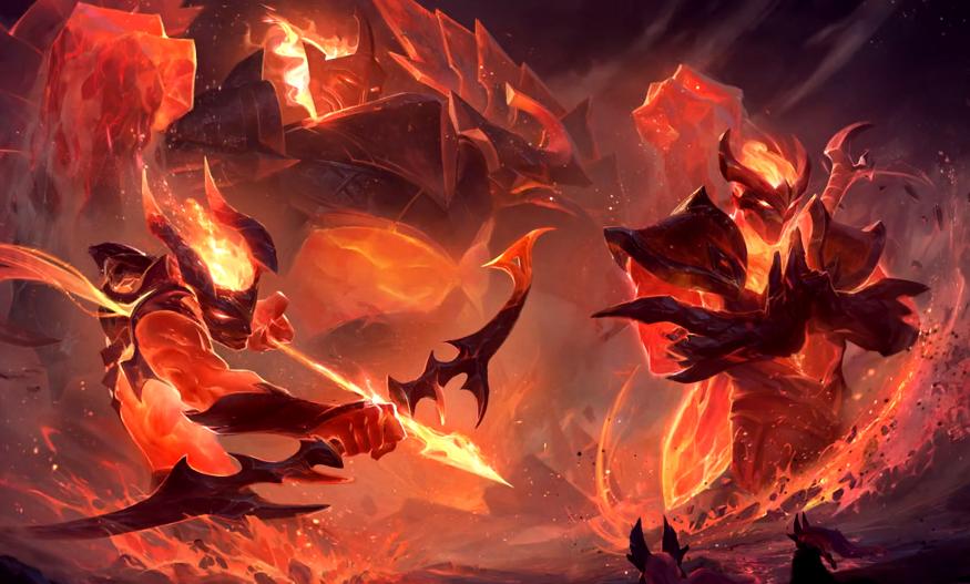 LOL:慎迎来新皮肤地狱火,看回城像是剑魔,大招超有安全感!