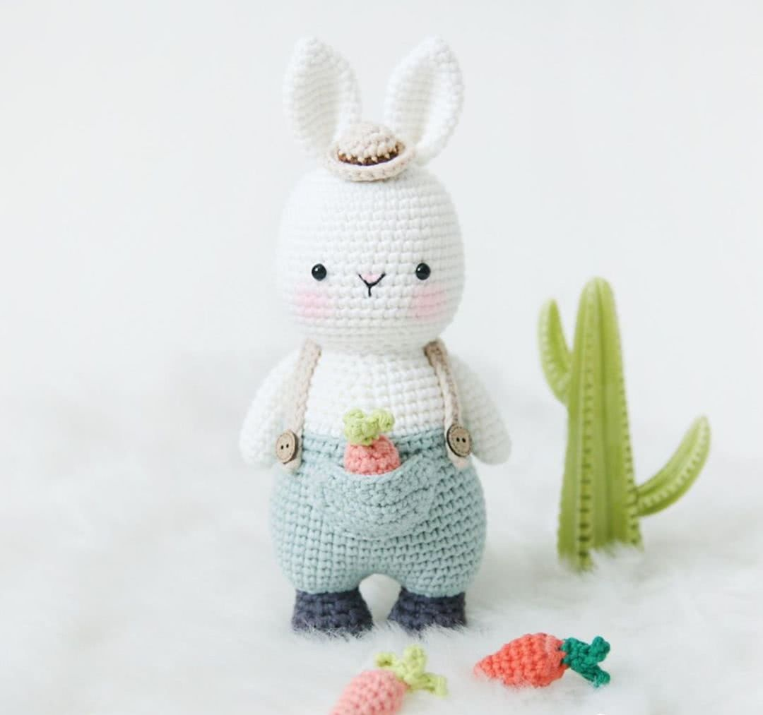 这么可爱的胖兔子,你怎么可以不钩!