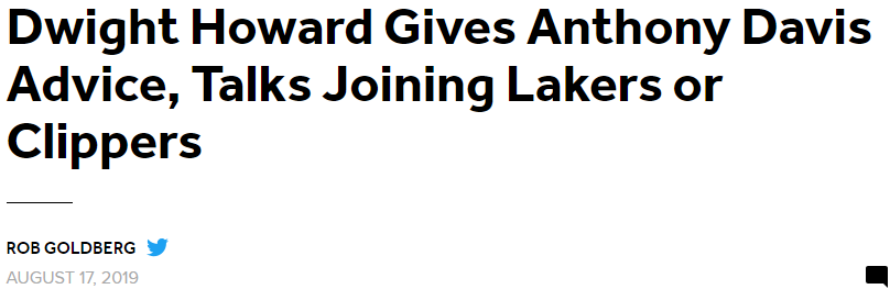 霍华德渴望重回洛杉矶,湖人或快船都可以,他想赢得总冠军?
