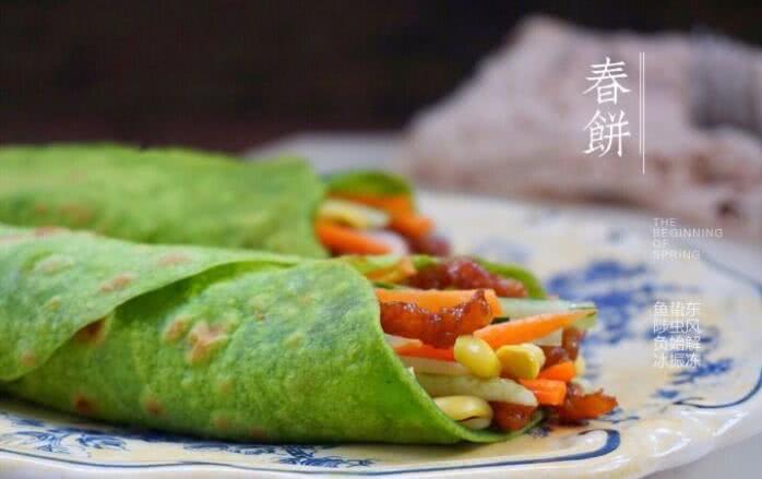 吃一口早春的味道,菠菜汁春饼做法