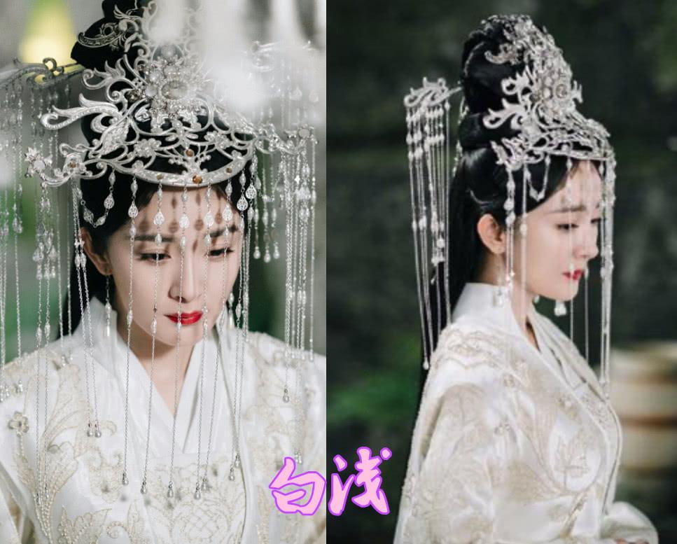 白浅的白嫁衣,伽罗的白嫁衣,锦觅的白嫁衣,看到梨落:女生羡慕了