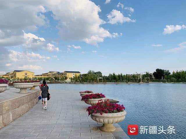 """120万株鲜花""""走""""上街,把哈巴河变成了一座""""花城"""""""