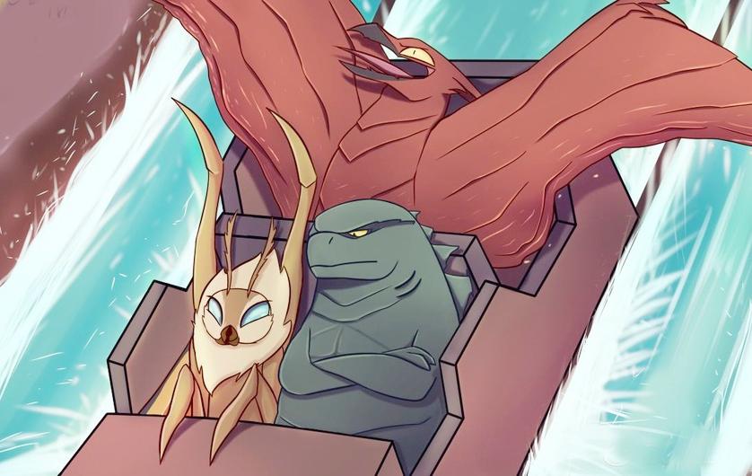 《哥斯拉2》卡通,哥总淡定滑水,基多拉挺身守护骷髅岛金刚