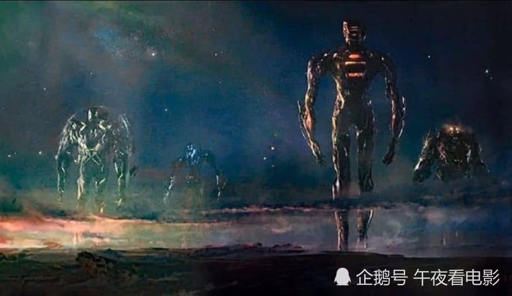 《永恒族》最新概念图,却意外撞脸X战警哨兵;寡姐或将成绝唱?