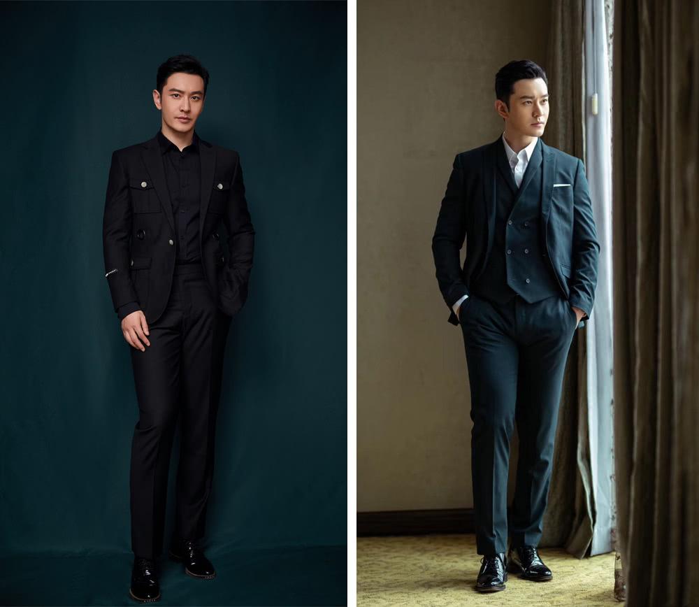 42岁黄晓明现身机场,牛仔外套配长裤,穿衣造型终于不走总裁风