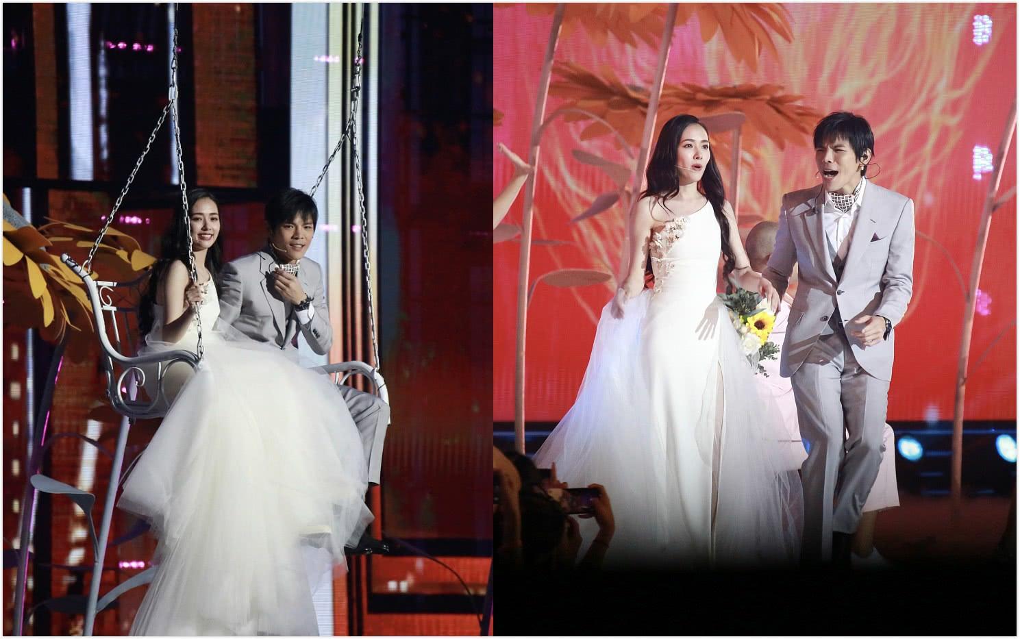 郭碧婷穿白色开叉裙仙气十足,却被同框向佐抢镜:表情包太多了