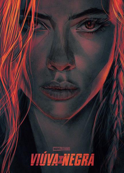 """《黑寡妇》最新海报,寡姐眼睛上还有""""蜘蛛""""图案"""