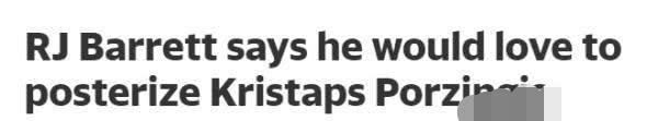 尼克斯新星不爽波尔津吉斯,球迷希望他能打爆波神