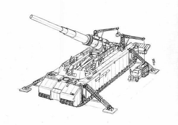 德国人脑洞真大!史上独一无二设计 P-1000陆地巡洋舰