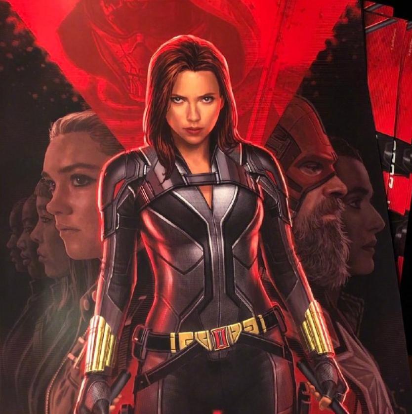 D23发布的3张艺术海报,猎鹰展现新战衣外貌,幻红太甜了!