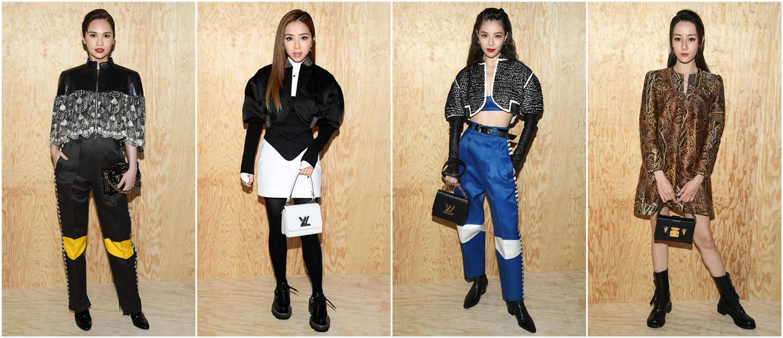 4位女星时装周争艳,杨丞琳婚后穿黑装依然很甜,热巴靠颜值取胜
