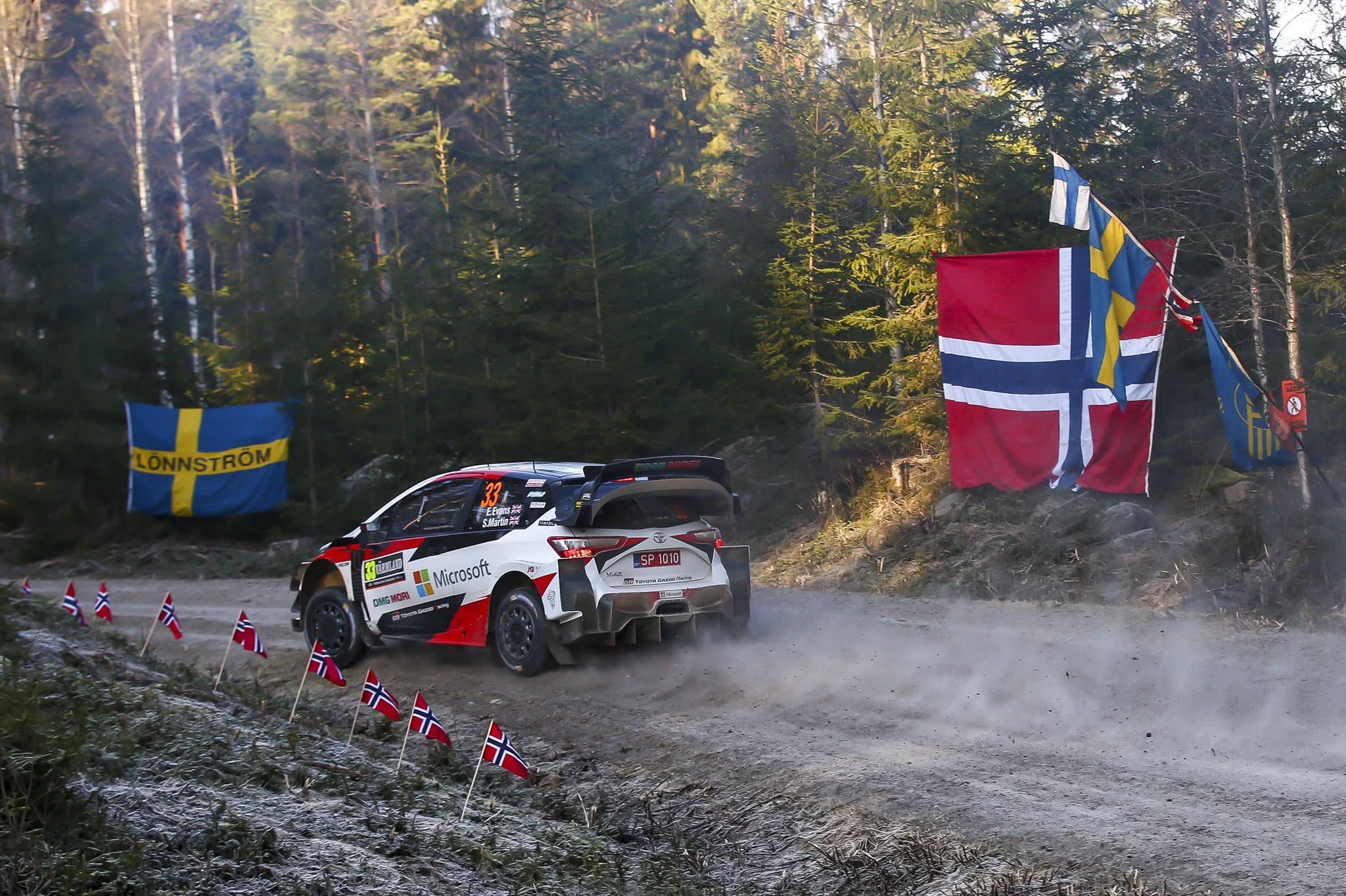 WRC瑞典站首日:丰田整体强势埃文斯领跑 卫冕冠军8.5秒差距暂列第二