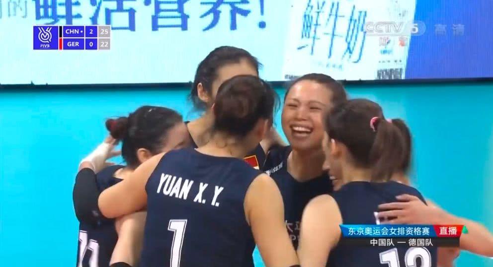 中国女排3:1德国,谁注意到中国队赢得三局最后的诡异得分方式