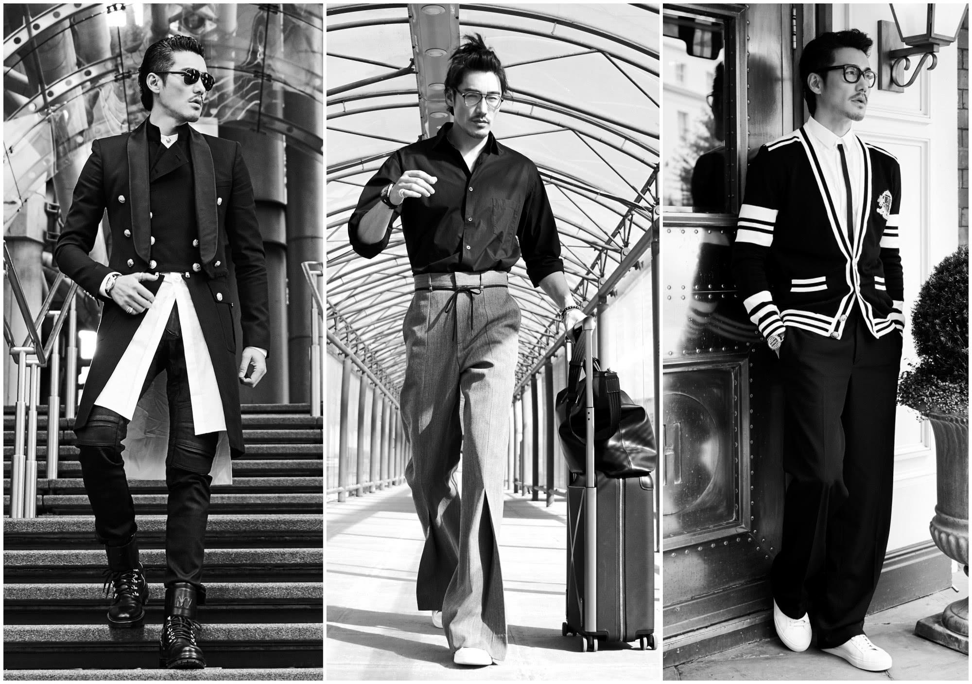 胡兵第十次出征伦敦,英伦大衣演绎绅士男神范,不愧是行走的衣架