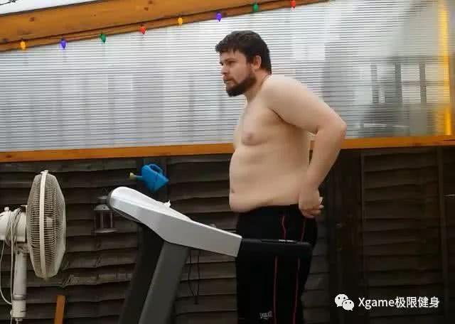 200斤小伙坚持跑步减肥半年,腹肌已经不远