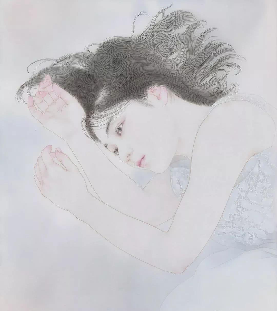 日本美女画工笔,2019新作开眼了