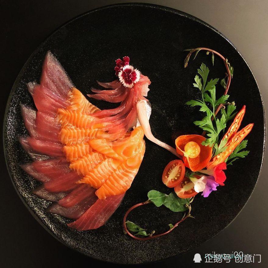 当生鱼片变成了艺术,我都舍不得下嘴了