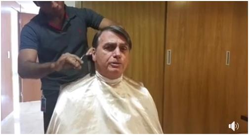 """""""鸽""""了法外长后,巴西总统在线直播做头发"""