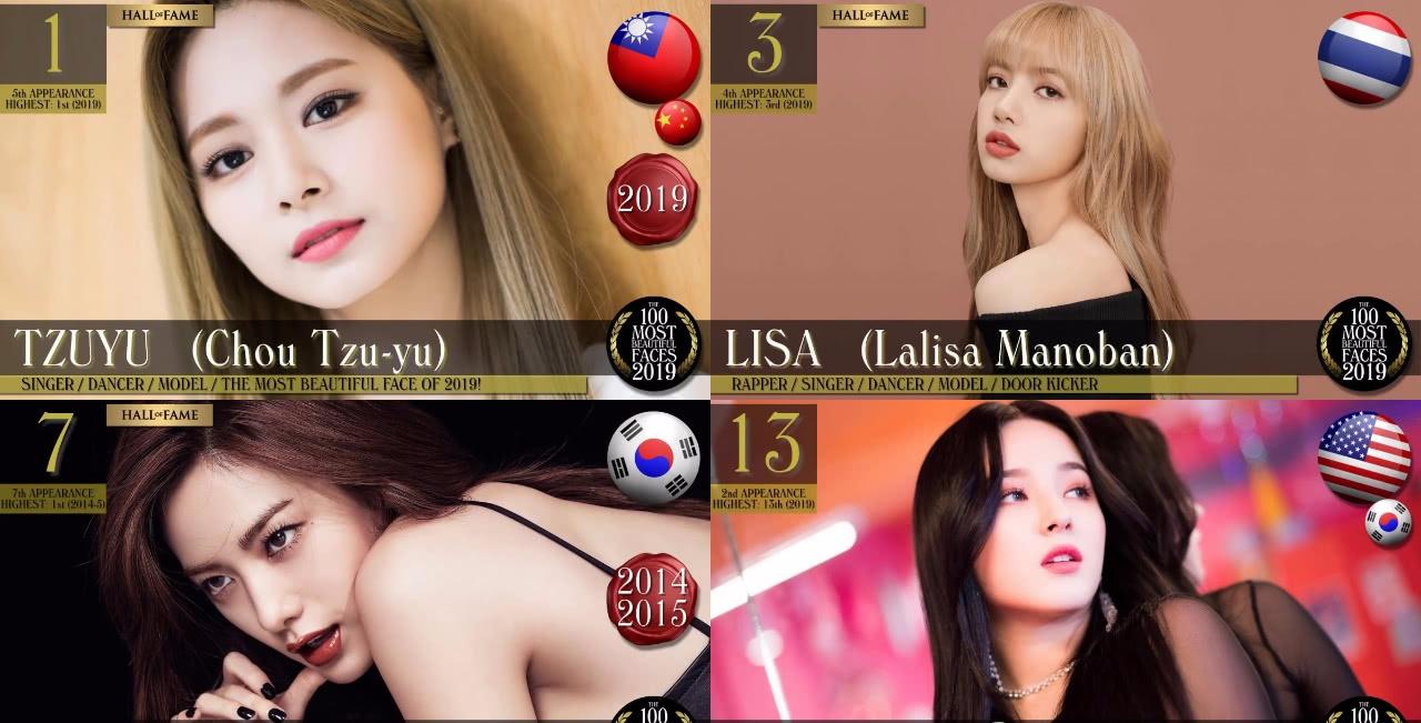 全球百大最美面孔,20名韩流女星入榜,TWICE周子瑜获冠!