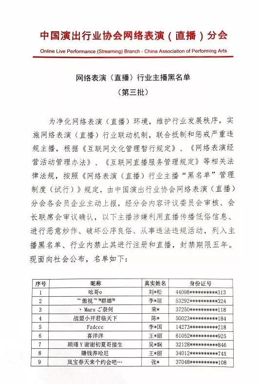 乔碧萝红花会贝贝被列入主播黑名单:五年内禁止直播
