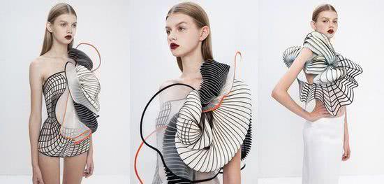 采用3D打印技术的裙子,竟然还会动?