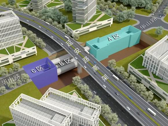 14号线静安寺站最新进展:A、C区主体结构完成