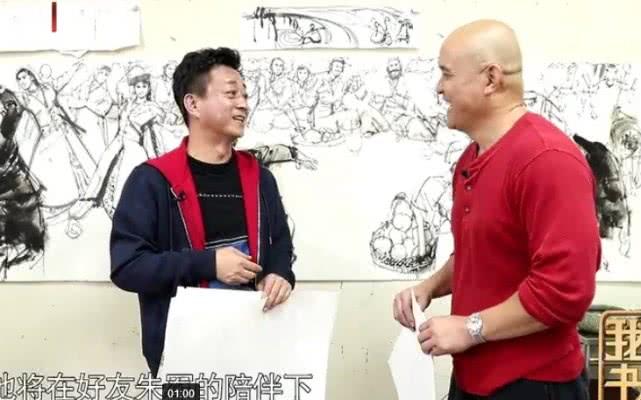 朱军最新绘画作品:画粉色玫瑰送给妻子,用家的温暖敬爱人