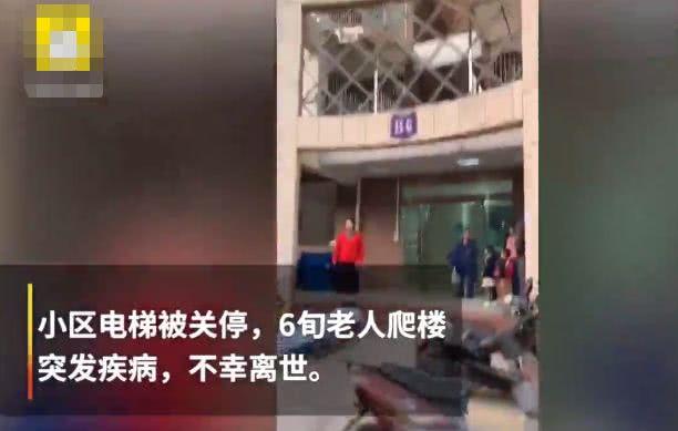 """<b>""""关停电梯致老人爬楼猝死"""",谁该担责</b>"""