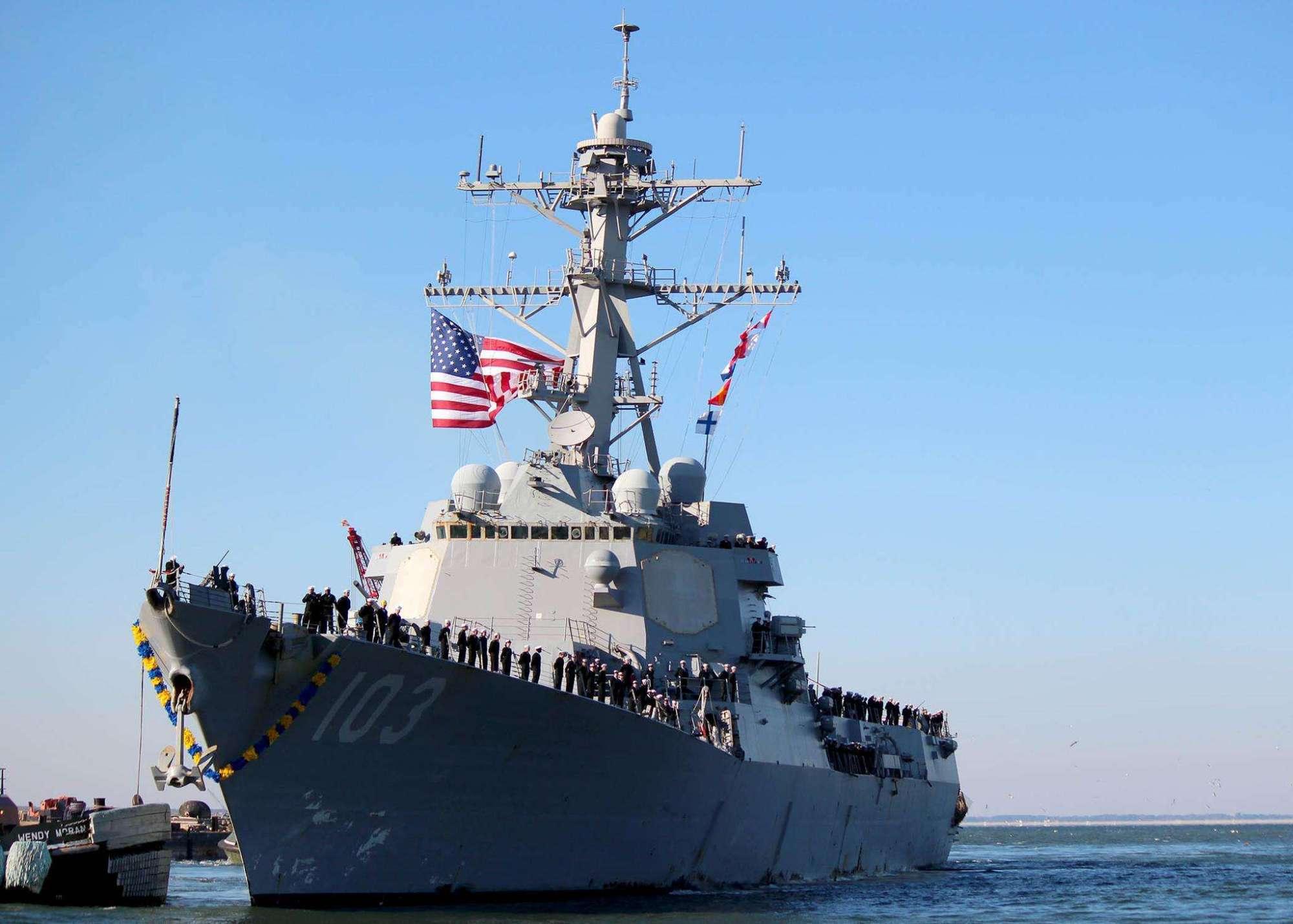 美评选全球最强五大军舰,055大驱只能排第二,第一名是哪款?