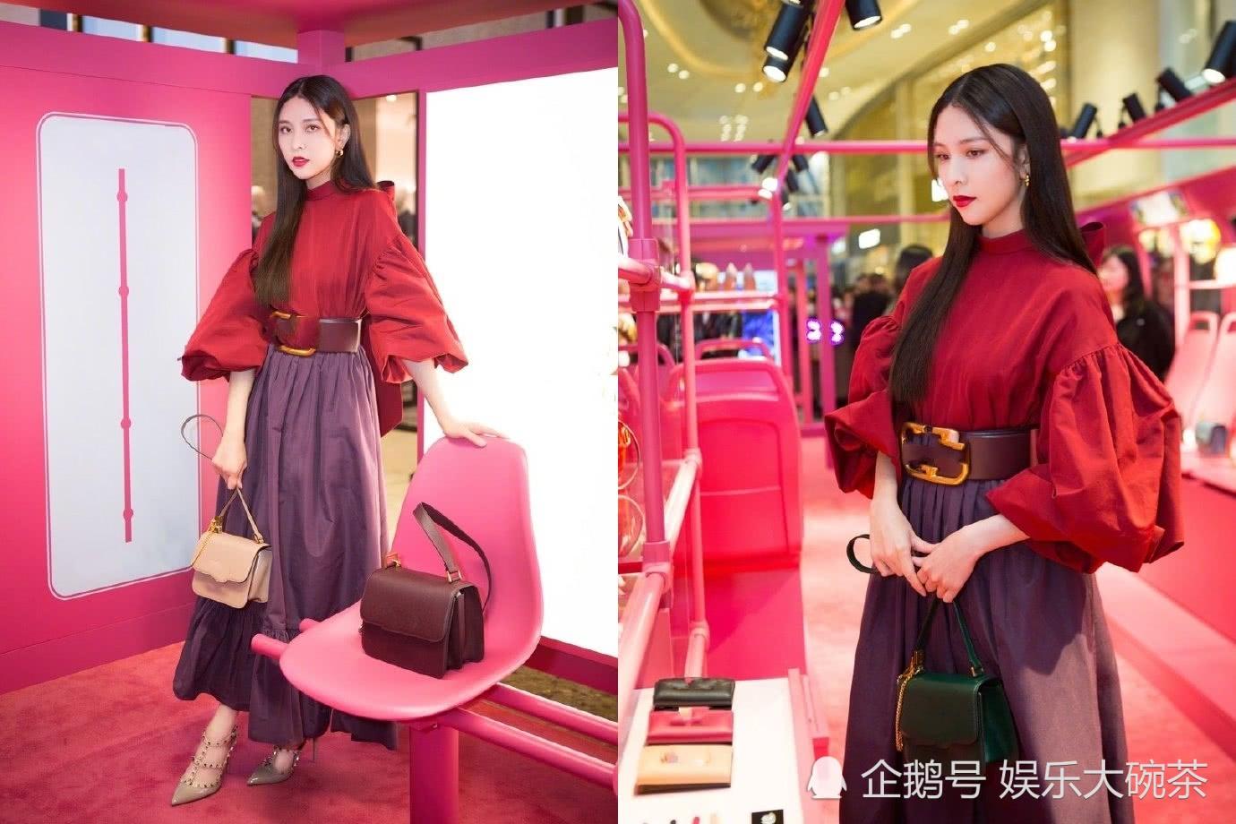 宋妍霏新造型驾驭的太完美了,红绿紫大胆配色化身复古摩登小仙女