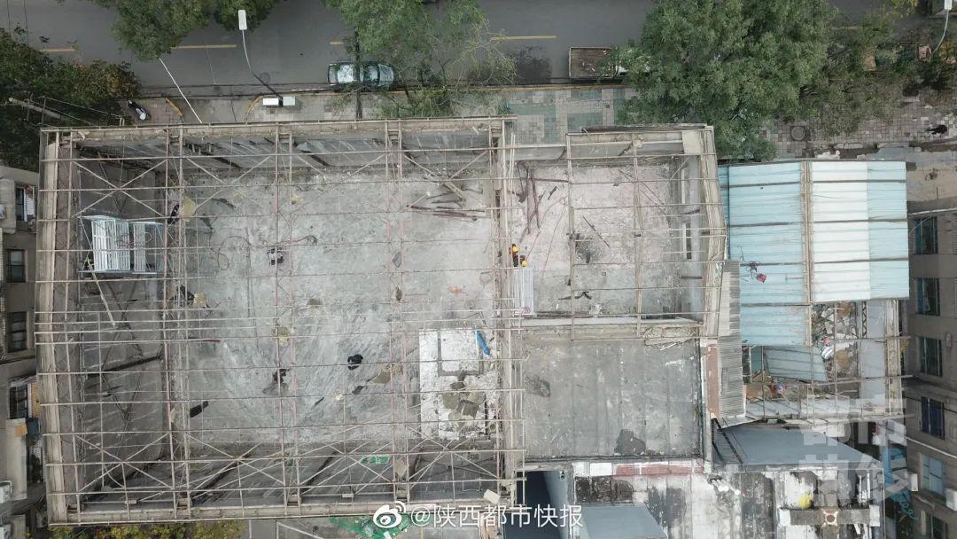 陕西:西安910平米违建被拆除