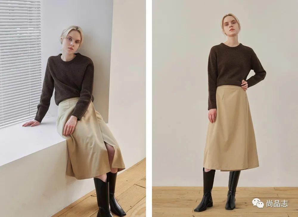 「优雅慵懒的网名」毛衣+裙子,秋天优雅且慵懒的打开方式