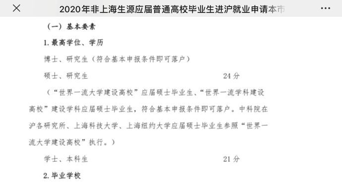 「上海为什么那么穷」上海突然放大招:这几所大学只要本科毕业,直接落上海户口!