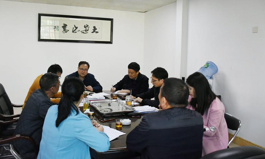 南平市人民检察院张涛副检察长一行莅临我院检查指导扫黑除恶工作