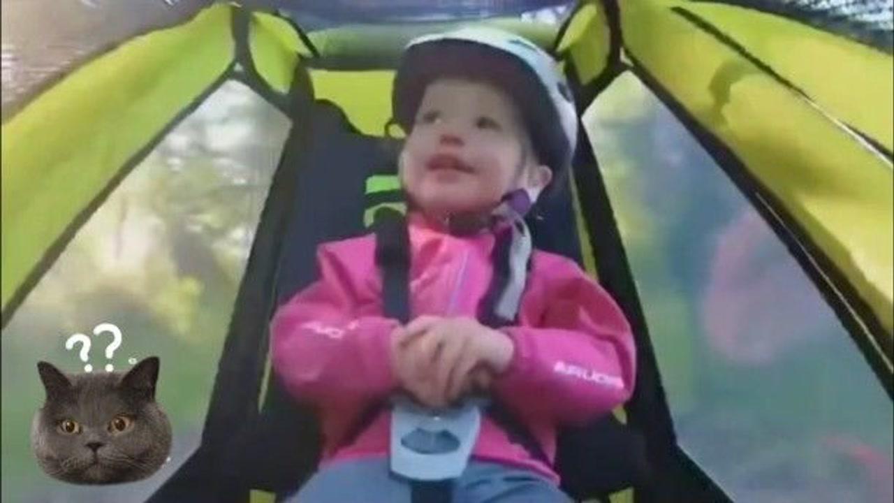 「极限运动排行」极限运动要从娃娃抓起,老外单车选手这样带孩子