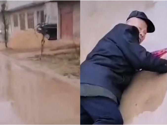 「扶摔倒老人反被讹事例」河南一老人路中摔倒,男子先拍视频后救人引热议,网友:人都被讹怕了