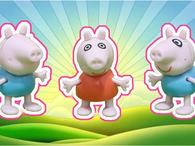 「小猪佩奇蛋玩具视频」小猪佩奇:奇趣蛋拆出乔治佩奇拼装人偶