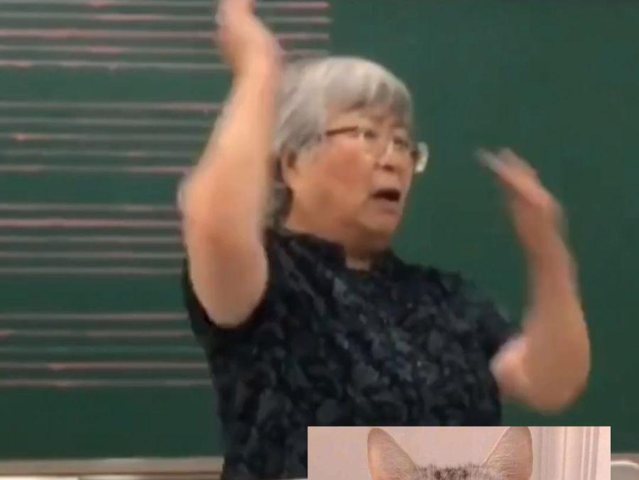 「合唱指挥视频」76岁女教授激情满满指挥合唱