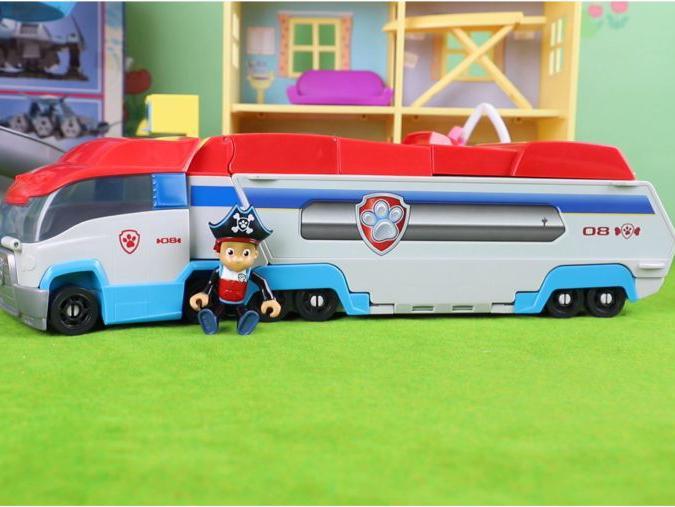 「汪汪队立大功莱德的机器狗」汪汪队立大功:莱德的超大变形救援车玩具分享