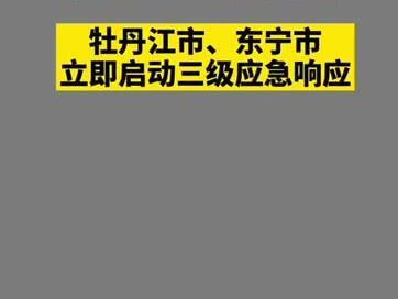 「东宁闫朝利」黑龙江东宁市新增一例本土新冠肺炎感染案例,牡丹江市、东宁市启动三级应急响应
