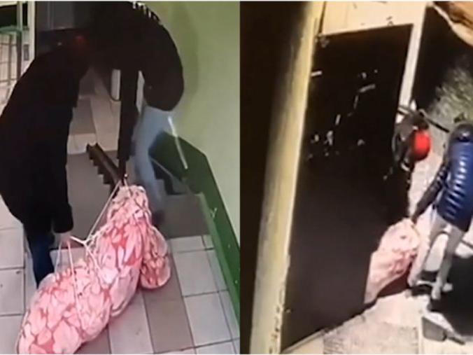 """「如何杜绝儿子啃老」俄71岁母亲杀害""""啃老""""儿子,监控拍抛尸画面"""
