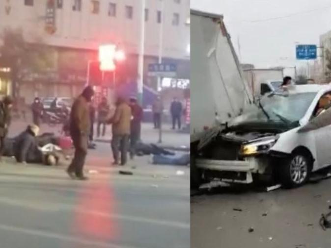 「这个平凡的男子受伤」男子开车撞人致9人受伤后弃车逃逸,现场多人倒地,目前已被抓获