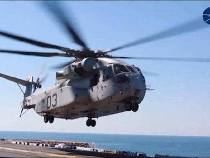 """「陆战队属于空军吗」美陆战队开始接收CH-53K""""种马王""""重型直升机"""