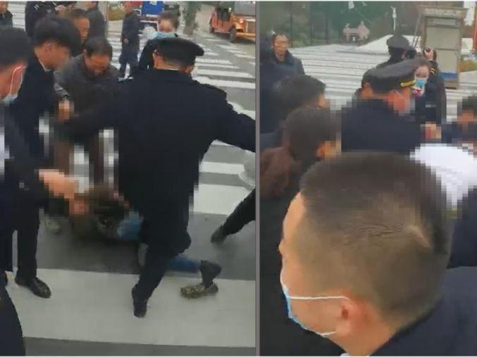 「讨薪被打」河南一群农民工讨薪遭售楼部保安拳打脚踢,官方回应:公安机关已介入