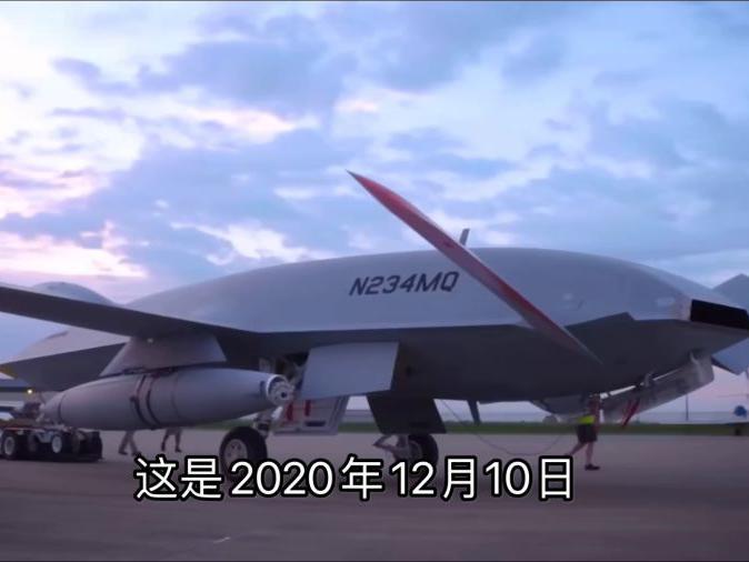 """「舰载攻击机」波音的""""救命机"""",MQ-25舰载无人加油机挂空中加油吊舱首飞"""