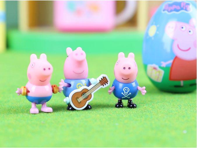 「小猪佩奇蛋玩具视频」小猪佩奇:奇趣蛋拆箱 获得海盗版小猪乔治